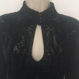 Nanette Lepore Velvet Burnout Dress